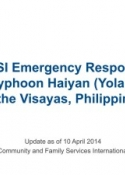 CFSI's post-typhoon humanitarian relief operations